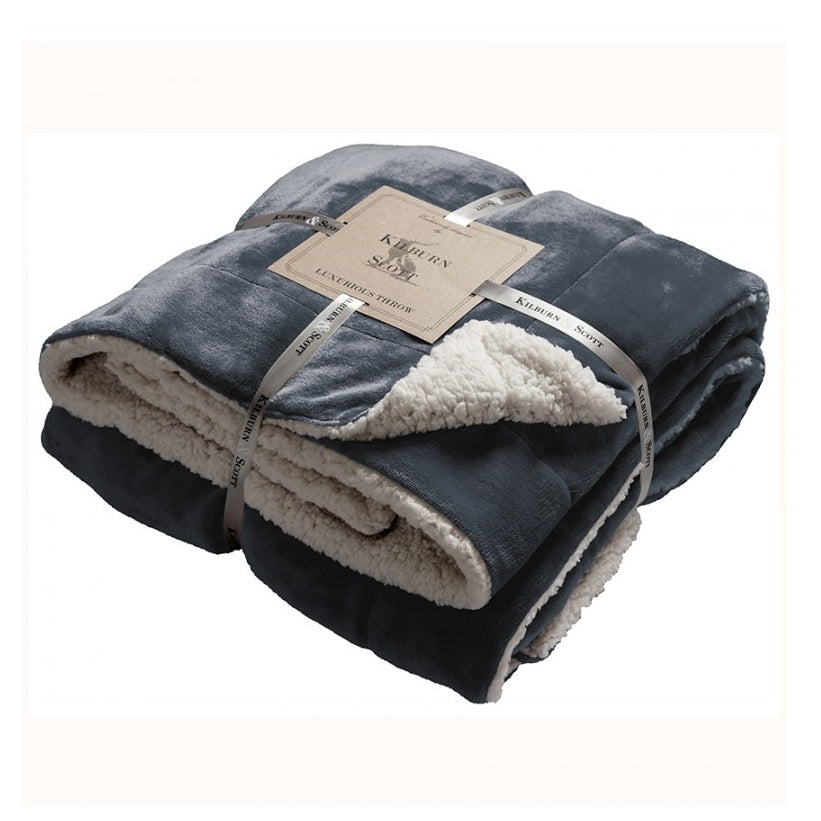 Kilburn & Scott Sherpa Throw Grey