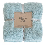 Kilburn & Scott Teddy Fleece Throw Duck Egg