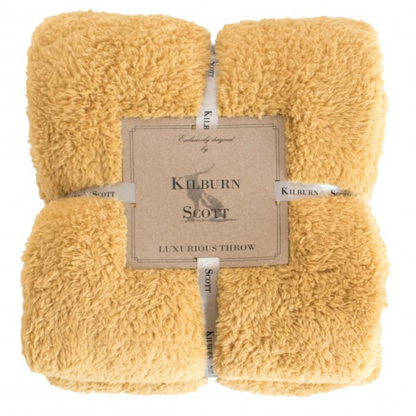 Kilburn & Scott Teddy Fleece Throw Orche