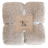 Kilburn & Scott Teddy Fleece Throw Taupe