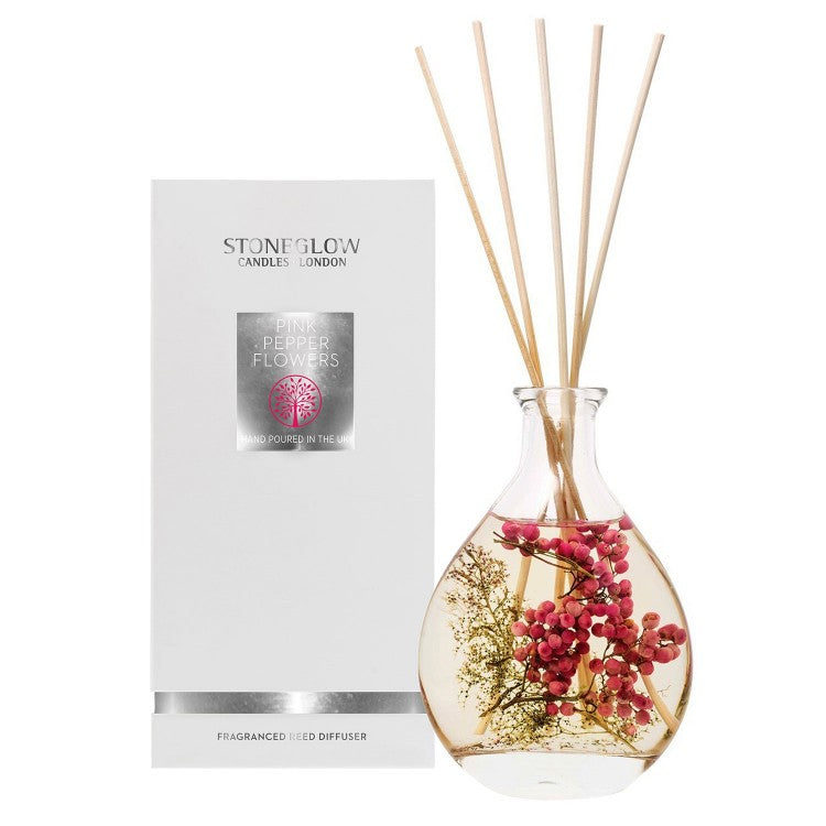 Stoneglow Candles Nature's Gift Reed Diffuser Pink Pepper Flowers
