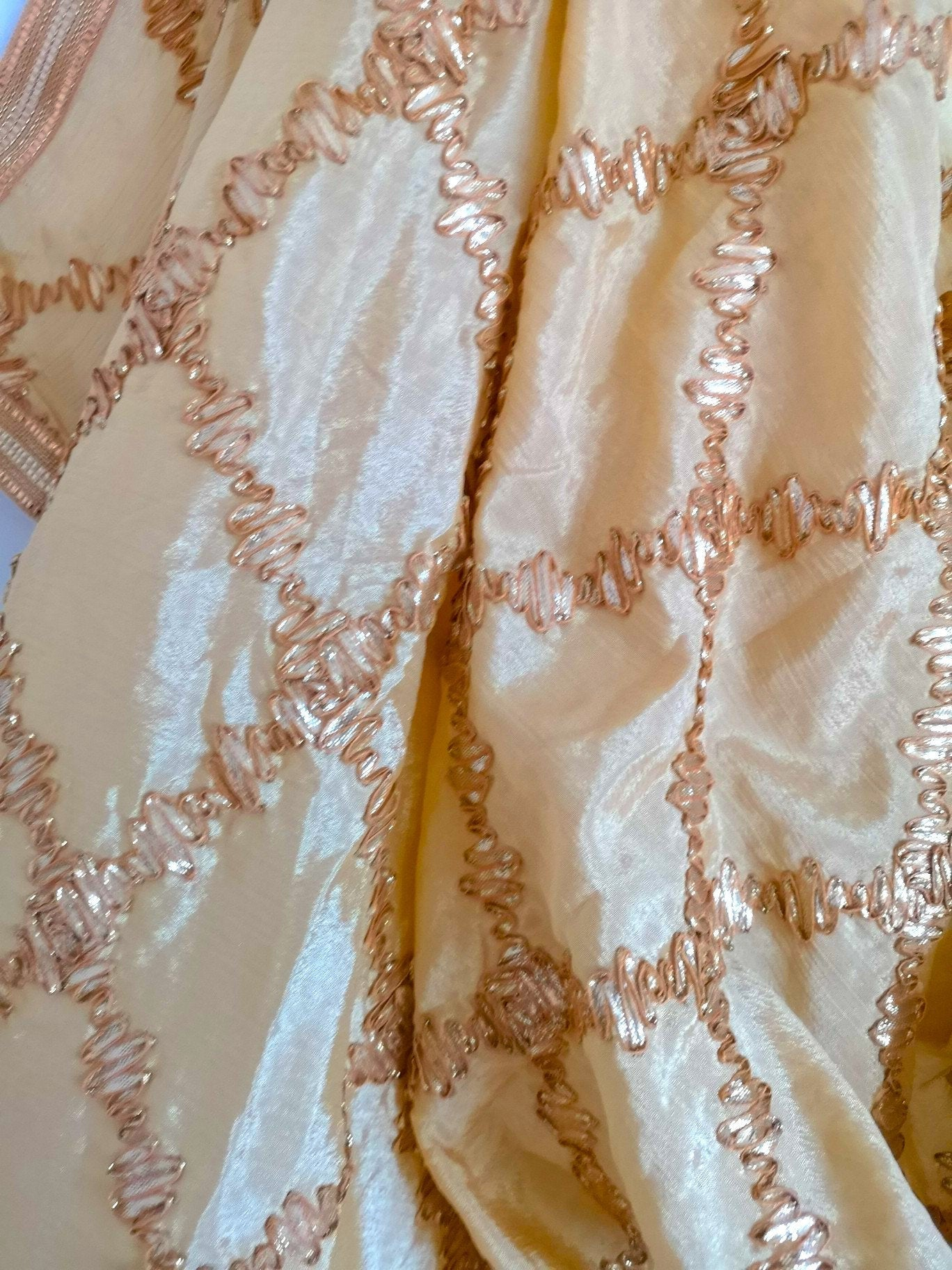 Gold gota patti chinnon / chinon dupatta (scarf), bridal wear, party wear, suit, lehenga, anarkali, bride, bridesmaids - Pink Chunari