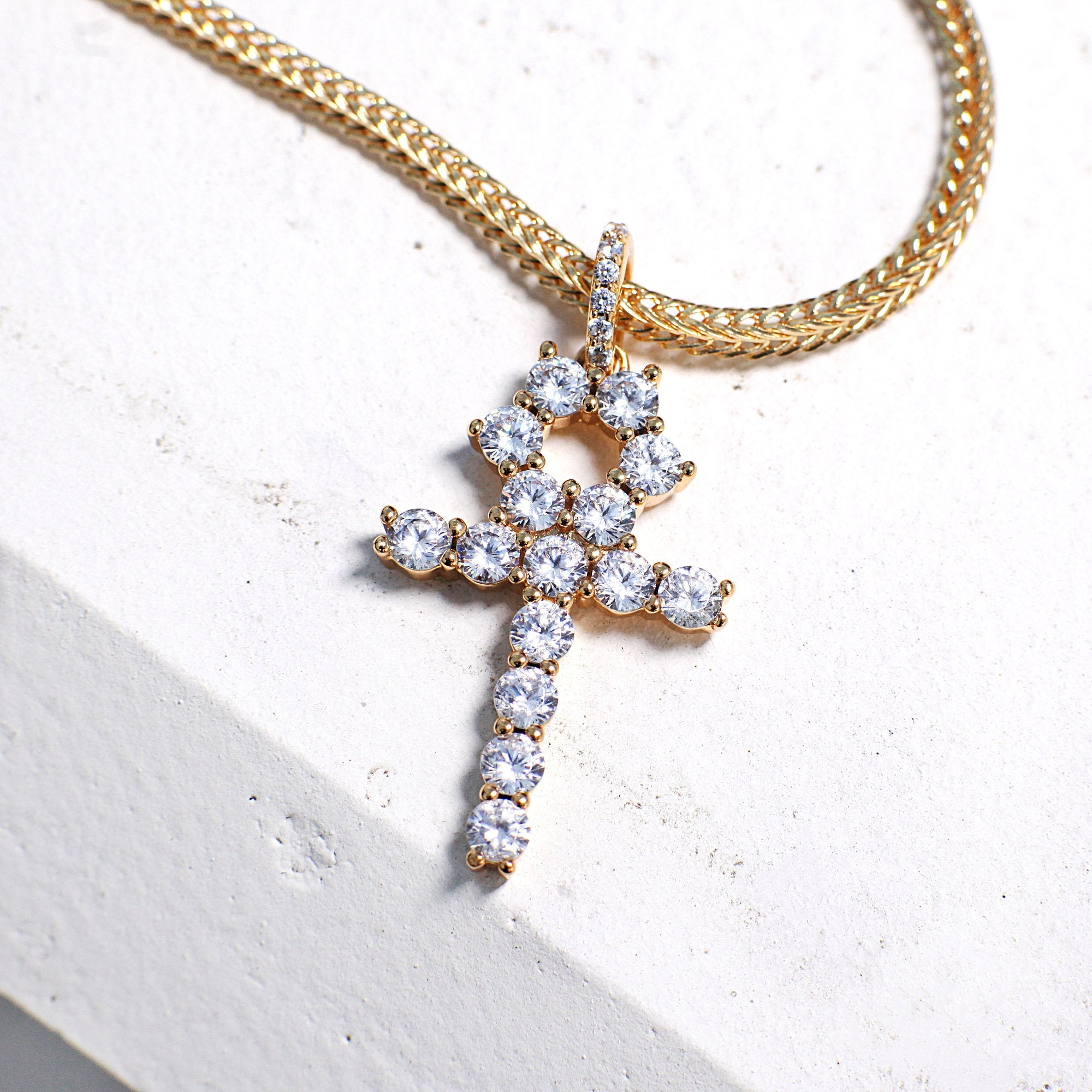Iced out ankh pendant zanura iced out ankh pendant mozeypictures Image collections