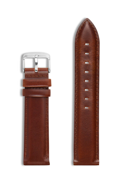 Brown Leather/Silver Buckle