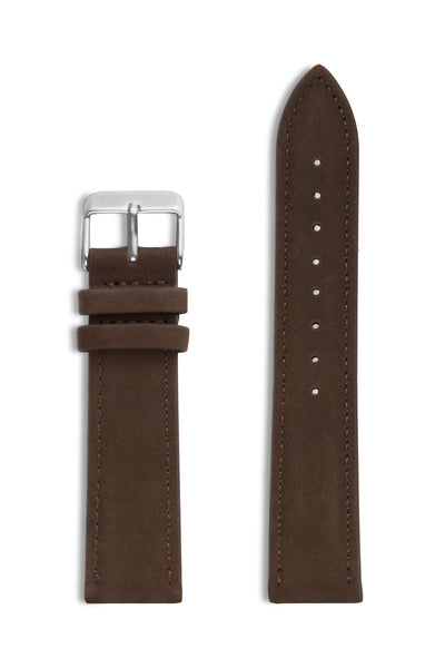 Brown Suede/Silver Buckle