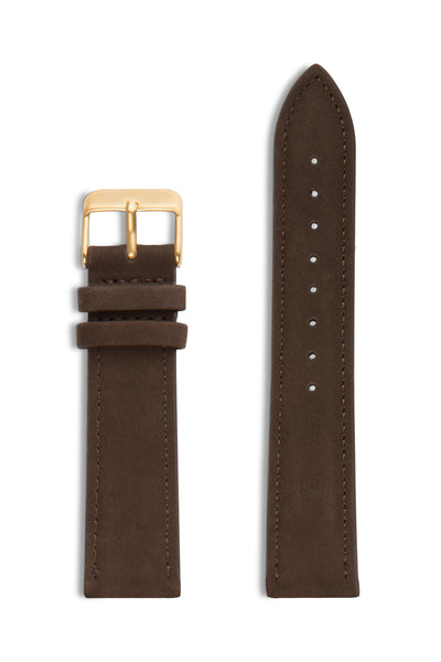 Brown Suede/Gold Buckle
