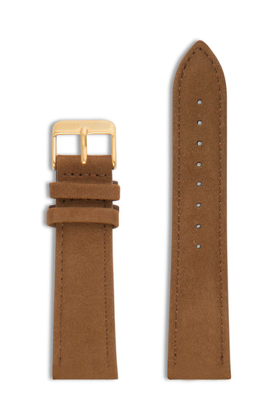 Tan Suede/Gold Buckle