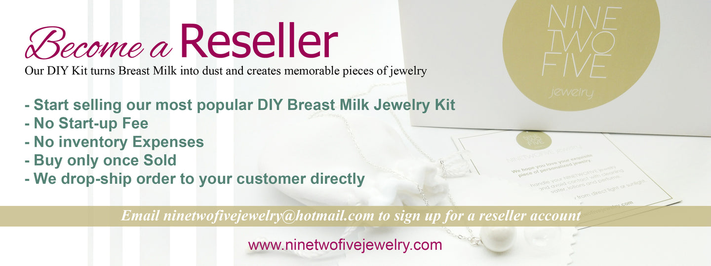 Become Breast Milk Jewelry Reseller