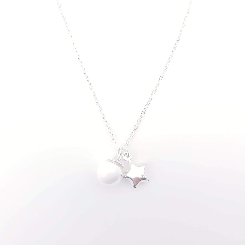 Sterling Silver Charm Necklace for Breast Milk Jewelry Vial - Candy Star