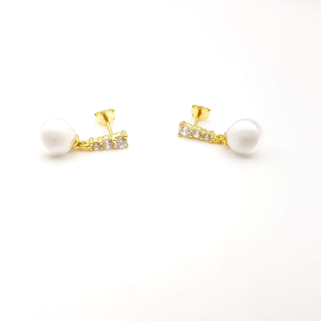 Gold Plated Sterling Silver Earring Base for Breast Milk Jewelry Vial - EB-28