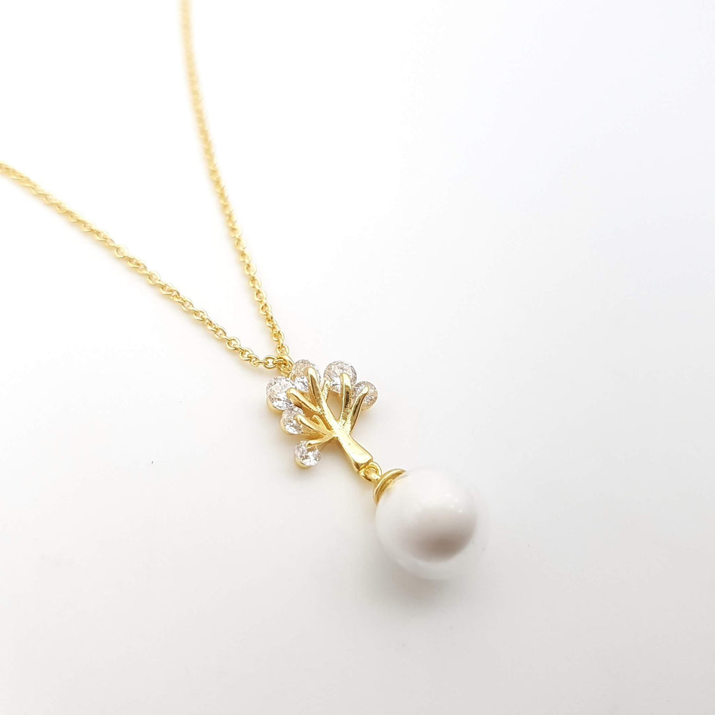 Gold Plated over Sterling Silver Necklace For Breast Milk Jewelry Vial - NL-22