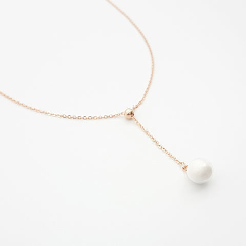 Rose Gold Plated Over Sterling Silver Necklace For Breast Milk Jewelry Vial - NL-3