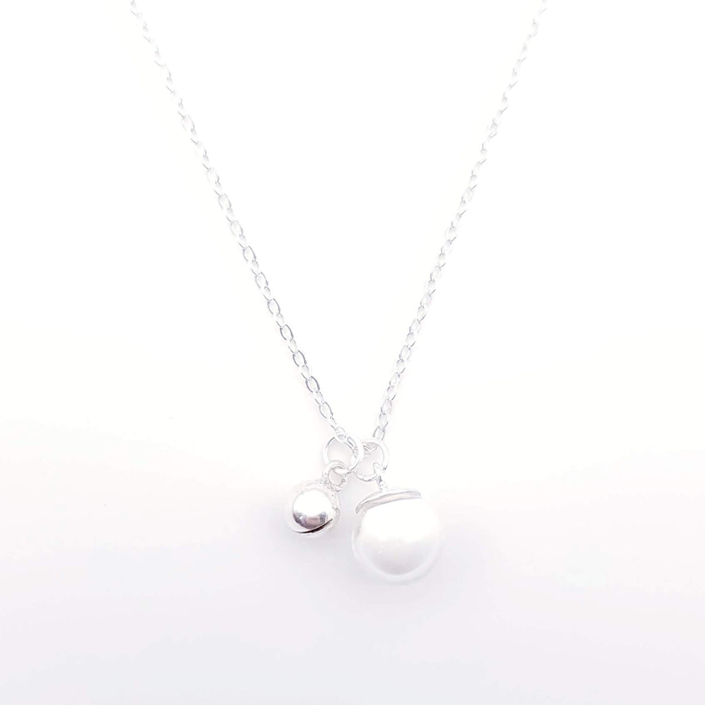 Sterling Silver Charm Necklace for Breast Milk Jewelry Vial - Jingle Bell
