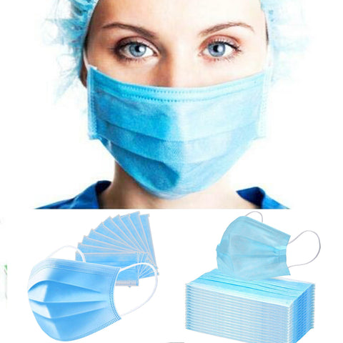 Disposable Medical Grade 3Ply Surgical Mask - For Kids / Adults (Pack of 50pcs)