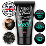 Activated Charcoal Face Mask Peel with Tea Tree Oil - 100ml Face Detox & Blackhead Remover