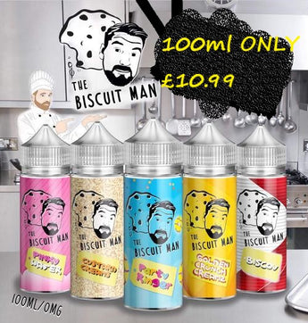 The Biscuit Man E Liquid Shortfill 100ml Party Ringer