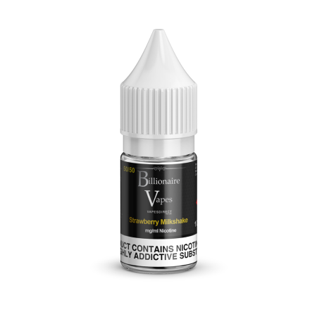 Billionaire Vapes 50/50 Eliquid 10ml Strawberry Milkshake