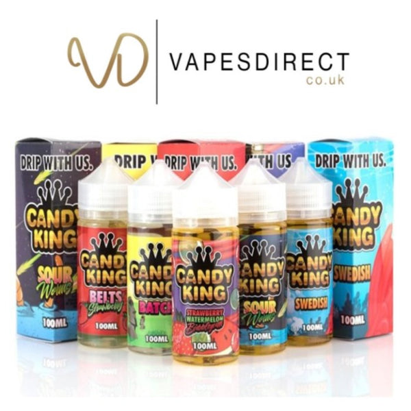 Candy King Eliquid 100ml Pink Squares