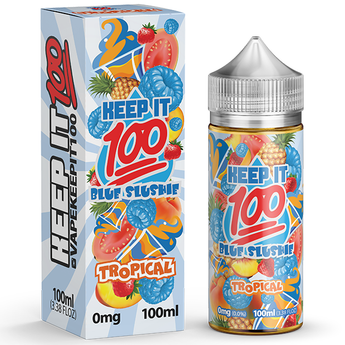 Keep It 100 Blue Slushie Tropical 100ml High Vg 0MG E-Liquid