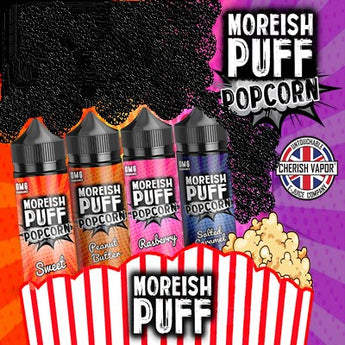 Moreish Puff Popcorn E-Liquid Shortfill Raspberry