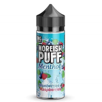 Moreish Puff Menthol Shortfill 50ml Blueberries And Raspberries