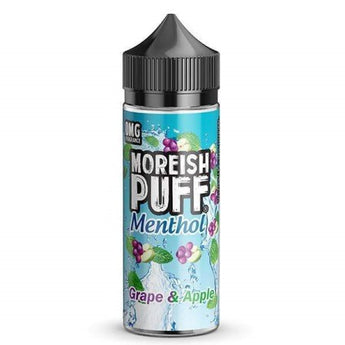 Moreish Puff Menthol Shortfill 50ml Grape And Apple