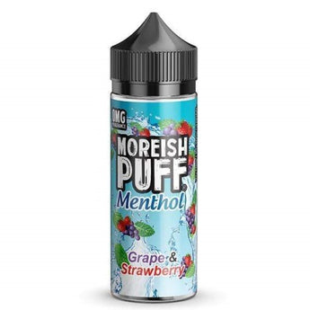 Moreish Puff Menthol Shortfill 50ml Grape And Strawberry