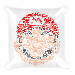 Arial Plumber Square Pillow