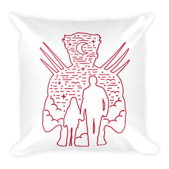 Rusty Claws Square Pillow