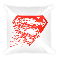 Superbat Red Square Pillow