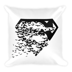 Superbat Black Square Pillow