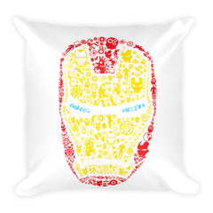 Arial Iron Square Pillow