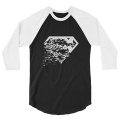 Superbat White 3/4 Sleeve