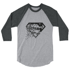 Superbat Black 3/4 Sleeve