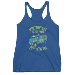 It Stays in The Van Racerback Tank