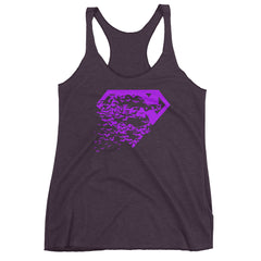 Superbat Purple Racerback Tank