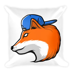 For Fox Sake Square Pillow