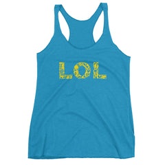 LOL Yellow Racerback Tank