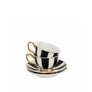 Teacup Petit Striped Ebony