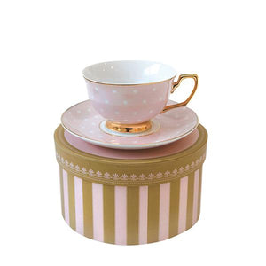 Teacup Polka Blush