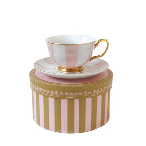 Teacup Stripe Blush