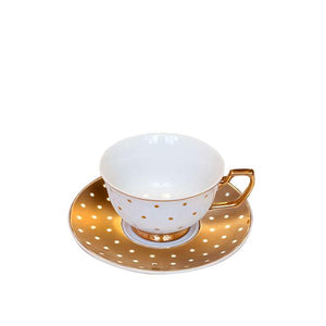 Teacup Kelly Gold Polka Dots
