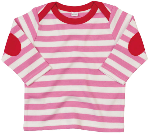 Personalised Baby Stripy Long Sleeve T-Shirt