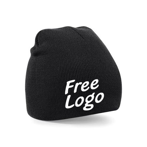 24 x Beechfield Pull On Beanie Hats For £99 - With Free Logo!