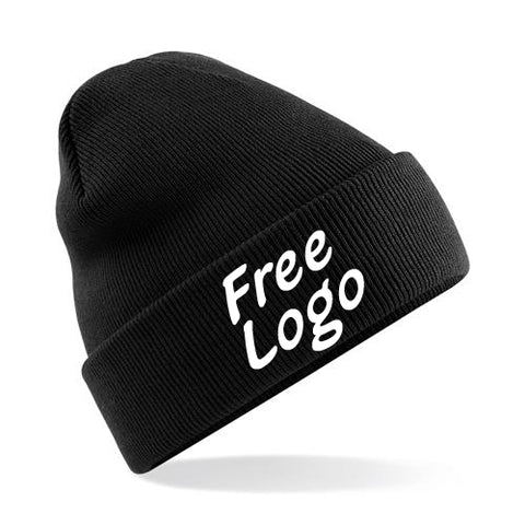 24 x Beechfield Cuffed Beanie Hats For £99 - With Free Logo!