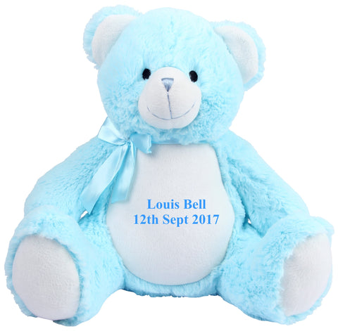 Personalised Blue Baby Bear