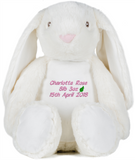 Leaf Charity Personalised Zippy Plush Bunny