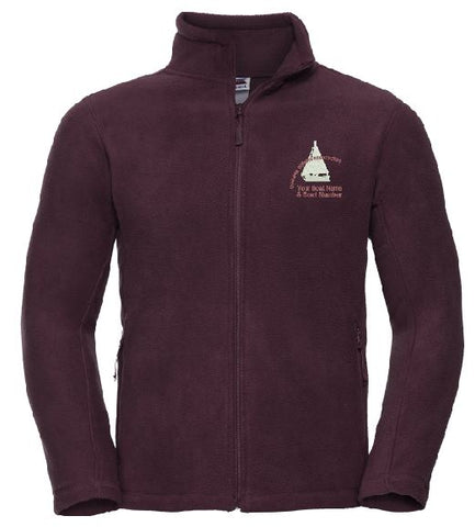 S.O.A Embroidered Mens Full Zip Fleece