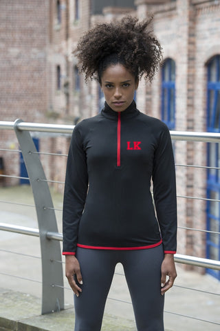 Personalised Ladies 1/2 Zip Gym Top