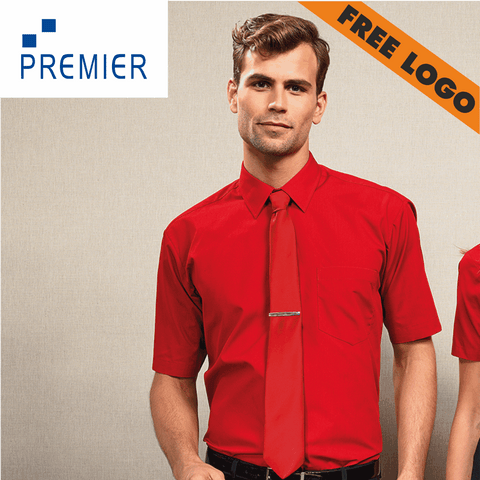 6 x Premier Short Sleeve Shirts For £99 - Includes Free Logo!